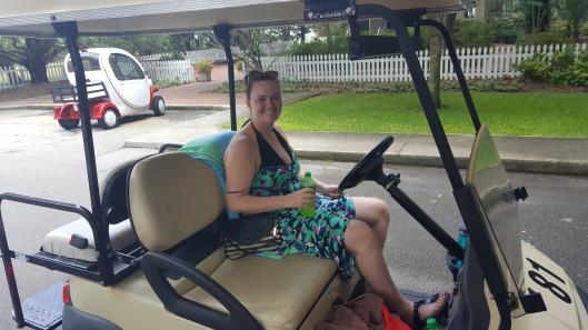 BHI trip golf cart